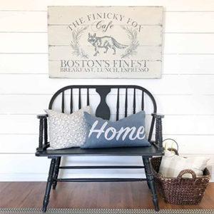Classic Farmhouse Bench Paint Color Liquorice