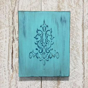DIY Embossed Wall Plaque Tutorial Paint Color Tropical Cocktail