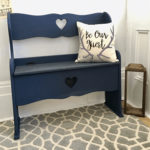 Navy Blue Hallway Bench Makeover Paint Color Peacoat