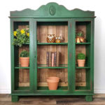 Rustic Cabinet Wood Paneling Green Fireworks Country Chic Paint